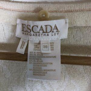 Escada Sweaters - Escada by Margaretha Ley Jacquard Cardigan